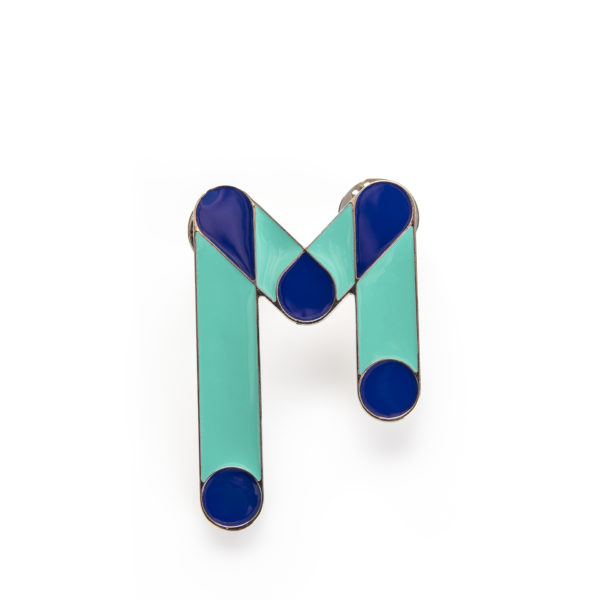 Blue Design Pin