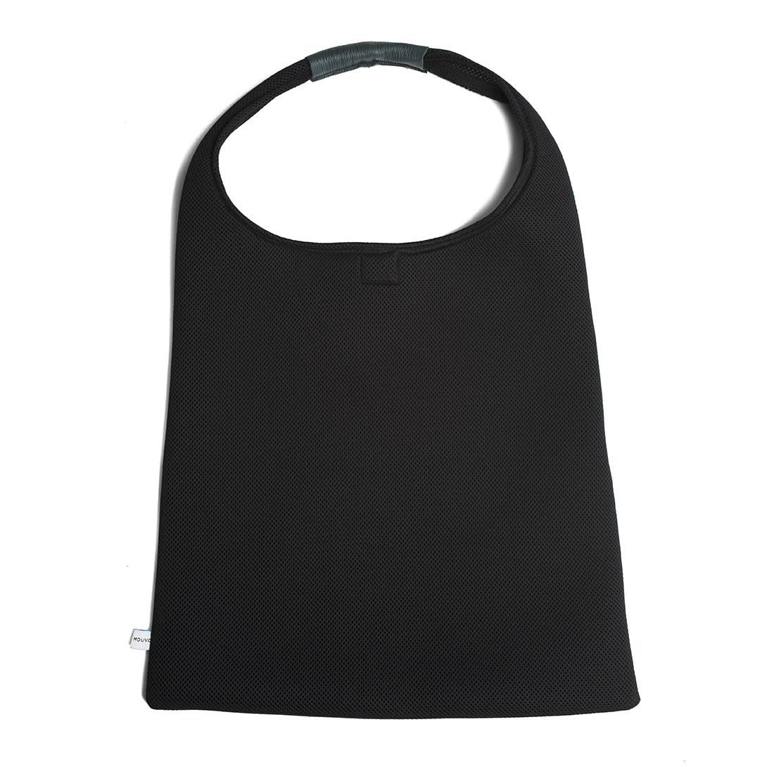 Black Anthracite leather Hobo Bag