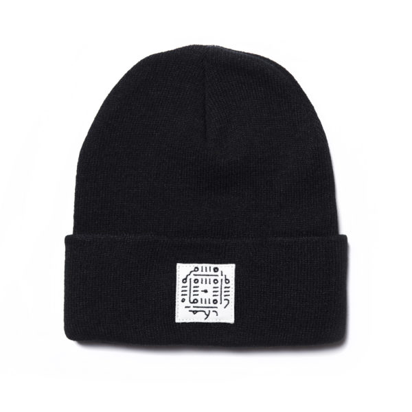 Black Beanie Unique Patch