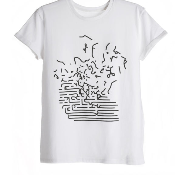 White Unisex Printed T-shirt