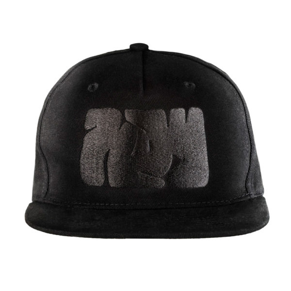 Black Cotton Snapback and Logo Play