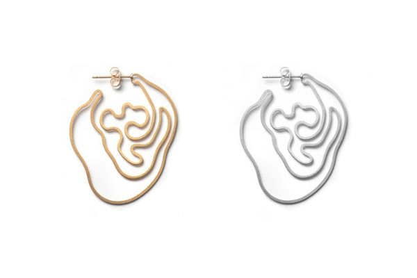 Gold and Silver Labyrinth Earring hypoallergenic stainless steel